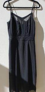 Spaghetti strap black  cocktail dress
